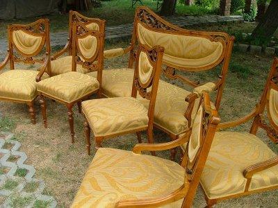 Ülőgarnitúra kárpitozása, felújítása