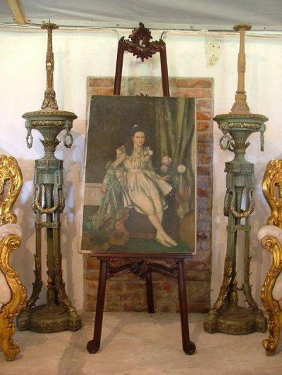 Antik festő állvány