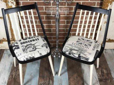 Provence bútor, antikolt bőrönd lábon álló 02.