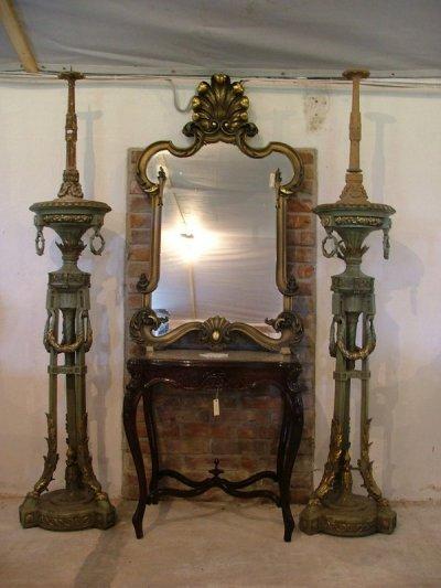 Aranyozott antik tükör