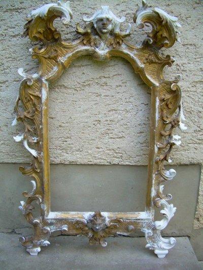 Barokk tükör felújítás, restaurálás.