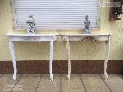 Provence bútor, antikolt Barokk konzol asztal 03.
