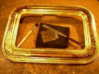 Biedermeier tükör keret restaurálás
