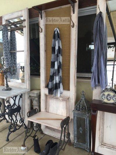 Provence előszobafal, fogas Kovácsoltvas ülőkével.