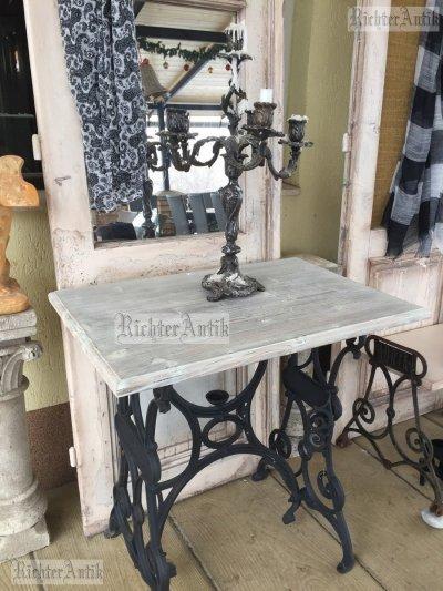 Provence előszobafal, fogas Kovácsoltvas asztallal.