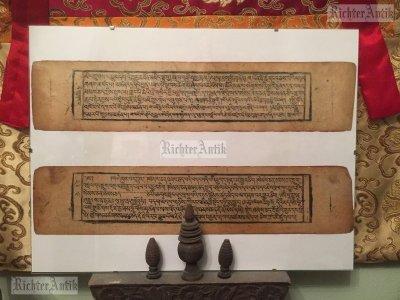Antik Tibeti Buddhista imakönyv, olvasó.