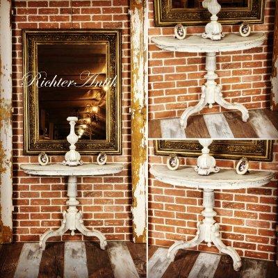 Provence bútor, antikolt póklábú konzol asztal 02.