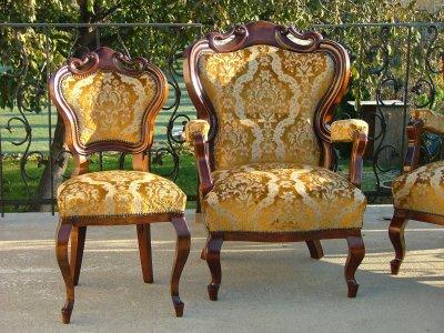 Barokk ülőgarnitúra kárpitozása