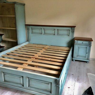 Vintage antikolt Ónémet francia ágy.