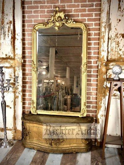 Aranyozott Rokokó tükör-konzollal