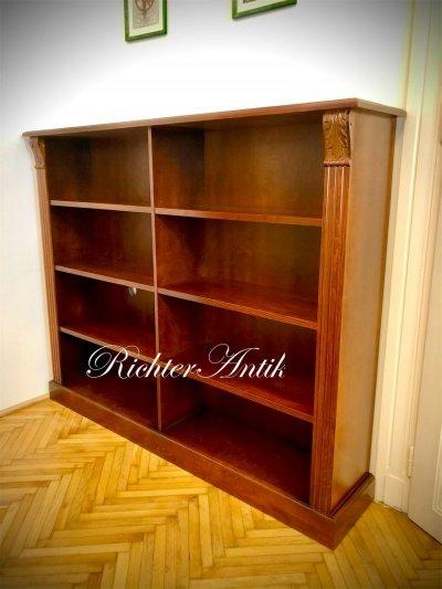 Ónémet Könyvszekrény, könyvtár szekrény.