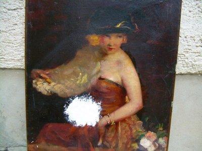 Festmény szakadásának restaurálása