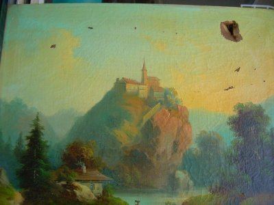 Festmény dublírozás, restaurálás